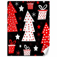 Red Playful Xmas Canvas 18  X 24   by Valentinaart