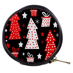Red Playful Xmas Mini Makeup Bags by Valentinaart