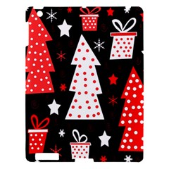 Red Playful Xmas Apple Ipad 3/4 Hardshell Case by Valentinaart