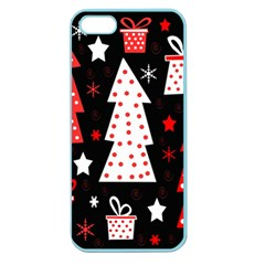 Red Playful Xmas Apple Seamless Iphone 5 Case (color) by Valentinaart
