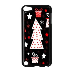 Red Playful Xmas Apple Ipod Touch 5 Case (black) by Valentinaart