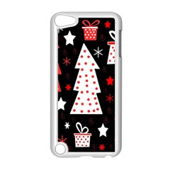 Red Playful Xmas Apple Ipod Touch 5 Case (white) by Valentinaart