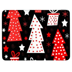 Red Playful Xmas Samsung Galaxy Tab 7  P1000 Flip Case by Valentinaart