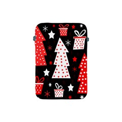Red Playful Xmas Apple Ipad Mini Protective Soft Cases by Valentinaart