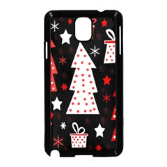 Red Playful Xmas Samsung Galaxy Note 3 Neo Hardshell Case (black) by Valentinaart