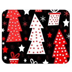 Red Playful Xmas Double Sided Flano Blanket (medium)  by Valentinaart