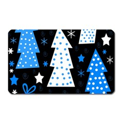 Blue Playful Xmas Magnet (rectangular) by Valentinaart