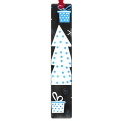 Blue Playful Xmas Large Book Marks by Valentinaart