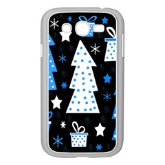 Blue Playful Xmas Samsung Galaxy Grand Duos I9082 Case (white) by Valentinaart