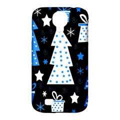 Blue Playful Xmas Samsung Galaxy S4 Classic Hardshell Case (pc+silicone) by Valentinaart