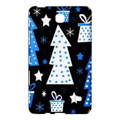Blue Playful Xmas Samsung Galaxy Tab 4 (7 ) Hardshell Case  by Valentinaart