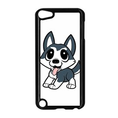 Pomsky Cartoon Apple Ipod Touch 5 Case (black) by TailWags