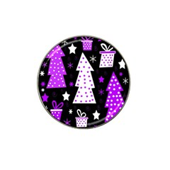 Purple Playful Xmas Hat Clip Ball Marker (4 Pack) by Valentinaart