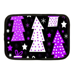 Purple Playful Xmas Netbook Case (medium)  by Valentinaart
