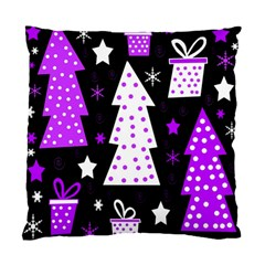 Purple Playful Xmas Standard Cushion Case (two Sides) by Valentinaart