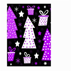 Purple Playful Xmas Large Garden Flag (two Sides) by Valentinaart