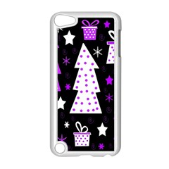 Purple Playful Xmas Apple Ipod Touch 5 Case (white) by Valentinaart