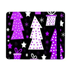Purple Playful Xmas Samsung Galaxy Tab Pro 8 4  Flip Case by Valentinaart