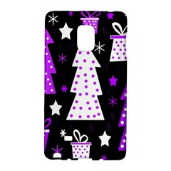 Purple Playful Xmas Galaxy Note Edge by Valentinaart