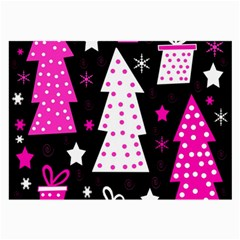 Pink Playful Xmas Large Glasses Cloth by Valentinaart