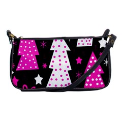 Pink Playful Xmas Shoulder Clutch Bags by Valentinaart