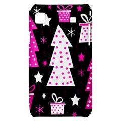 Pink playful Xmas Samsung Galaxy S i9000 Hardshell Case