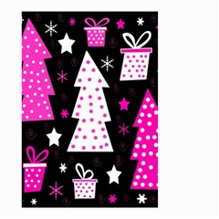 Pink Playful Xmas Small Garden Flag (two Sides) by Valentinaart
