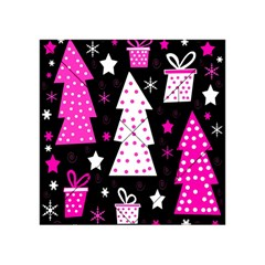 Pink Playful Xmas Acrylic Tangram Puzzle (4  X 4 ) by Valentinaart