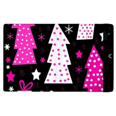 Pink Playful Xmas Apple Ipad 2 Flip Case by Valentinaart