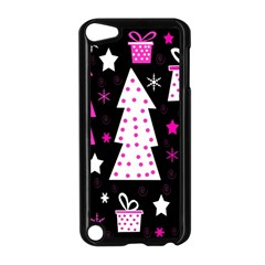 Pink Playful Xmas Apple Ipod Touch 5 Case (black) by Valentinaart