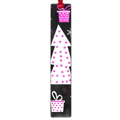 Pink Playful Xmas Large Book Marks by Valentinaart