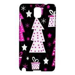 Pink Playful Xmas Samsung Galaxy Note 3 N9005 Hardshell Case by Valentinaart