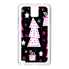 Pink Playful Xmas Samsung Galaxy Note 3 N9005 Case (white) by Valentinaart