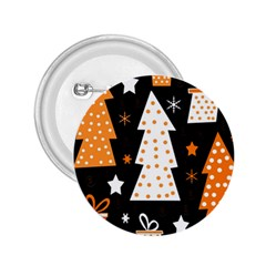 Orange Playful Xmas 2 25  Buttons by Valentinaart