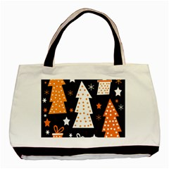 Orange Playful Xmas Basic Tote Bag by Valentinaart
