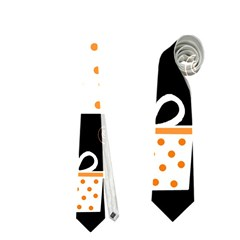 Orange Playful Xmas Neckties (one Side)  by Valentinaart