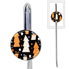 Orange Playful Xmas Book Mark by Valentinaart