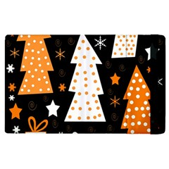 Orange Playful Xmas Apple Ipad 3/4 Flip Case by Valentinaart