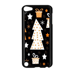 Orange Playful Xmas Apple Ipod Touch 5 Case (black) by Valentinaart