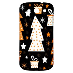 Orange Playful Xmas Samsung Galaxy S3 S Iii Classic Hardshell Back Case by Valentinaart