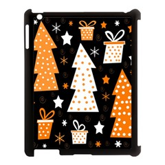 Orange Playful Xmas Apple Ipad 3/4 Case (black) by Valentinaart
