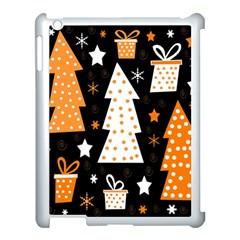 Orange Playful Xmas Apple Ipad 3/4 Case (white) by Valentinaart