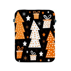 Orange Playful Xmas Apple Ipad 2/3/4 Protective Soft Cases by Valentinaart