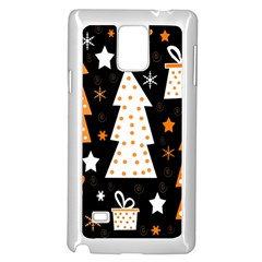 Orange Playful Xmas Samsung Galaxy Note 4 Case (white) by Valentinaart