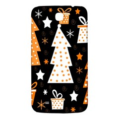Orange Playful Xmas Samsung Galaxy Mega I9200 Hardshell Back Case by Valentinaart