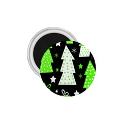 Green Playful Xmas 1 75  Magnets by Valentinaart