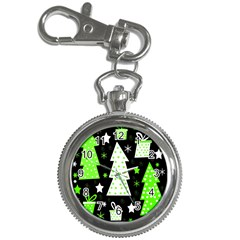 Green Playful Xmas Key Chain Watches by Valentinaart