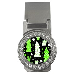 Green Playful Xmas Money Clips (CZ)