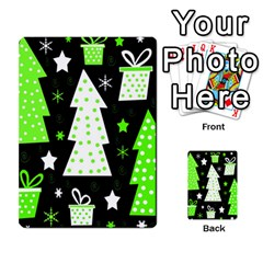 Green Playful Xmas Multi Purpose Cards (rectangle)  by Valentinaart