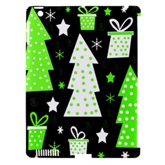 Green Playful Xmas Apple Ipad 3/4 Hardshell Case (compatible With Smart Cover) by Valentinaart